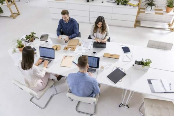 business work laptop desk group